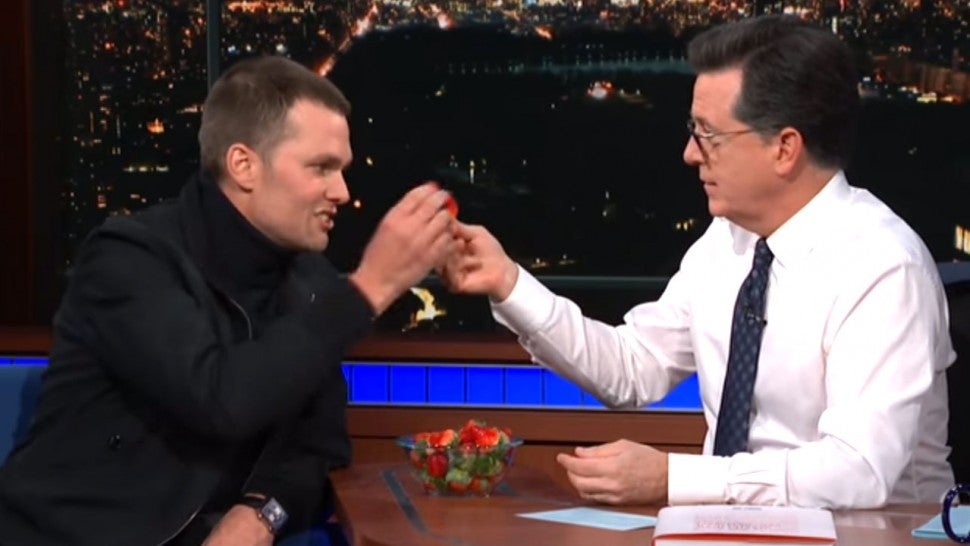 Tom Brady Strawberry Late Show