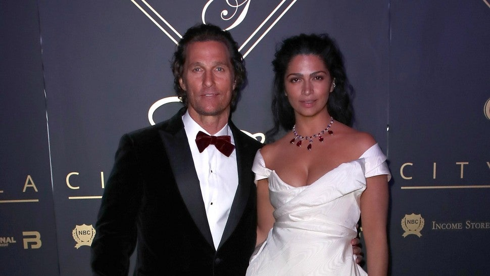 Alves and camila Matthew mcconaughey