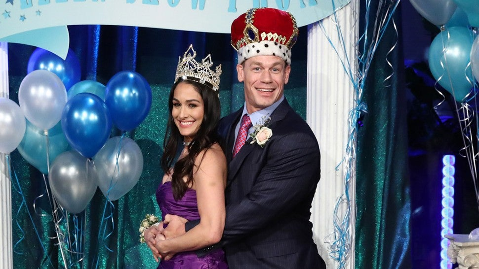 Nikki Bella throws John Cena a surprise prom on 'Ellen'