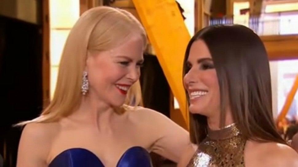 Sandra Bullock and Nicole Kidman Have Impromptu 'Practical