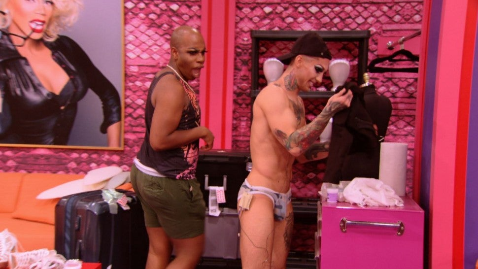 Kameron Michaels makes jaws drop in the workroom on 'RuPaul's Drag Race' season 10.