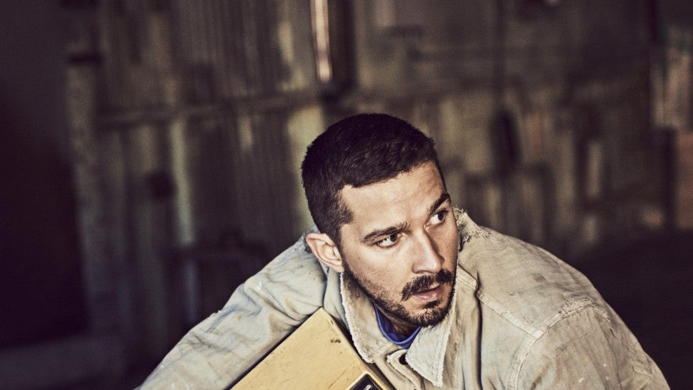 Shia LaBeouf sleeps with gun