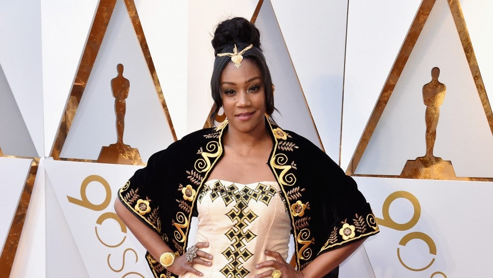 Tiffany Haddish re-wears 'Girls Trip' gown to Oscars