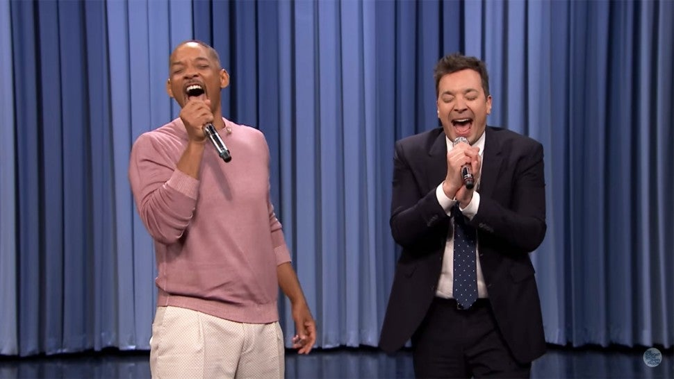 Will Smith and Jimmy Fallon