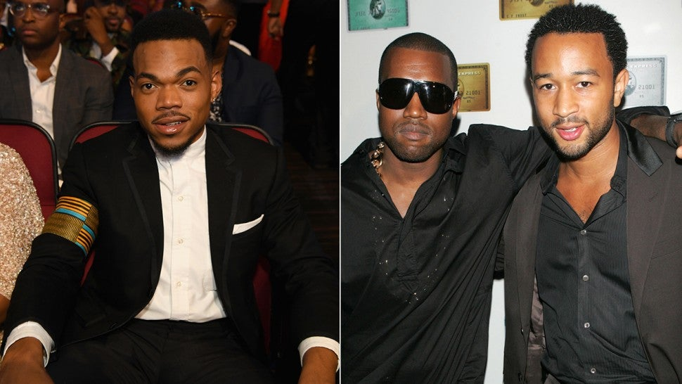 Chance the Rapper, Kanye West and John Legend