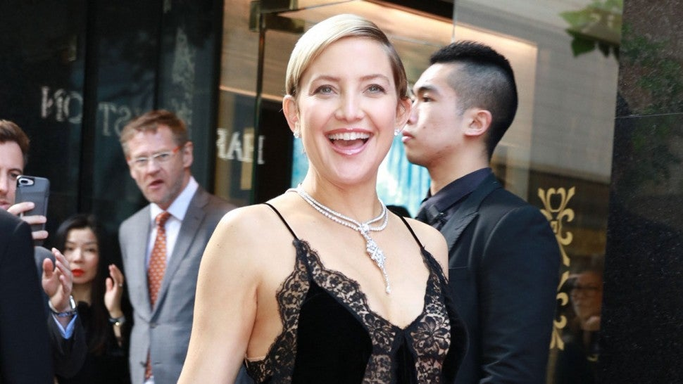 Kate Hudson in Hong Kong at Harry Winston store