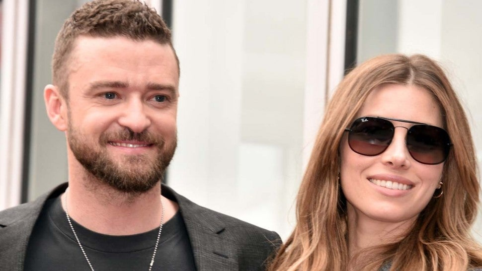 Justin Timberlake and Jessica Biel at *NSYNC's Walk of Fame Ceremony on Apr. 30