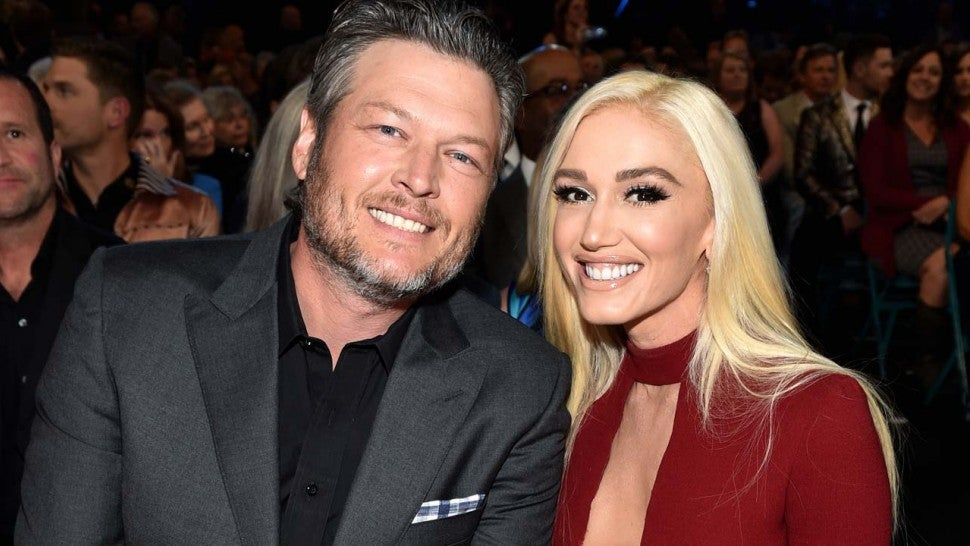 Blake Shelton and Gwen Stefani at the 53rd Academy of Country Music Awards