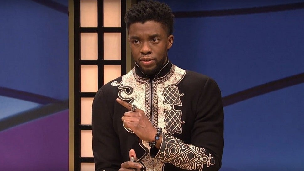 Chadwick Boseman plays Black Panther's T'Challa on 'Saturday Night Live'