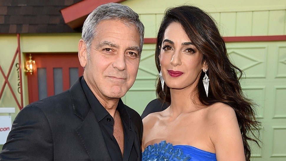George Clooney and Amal Clooney at Suburbicon premiere