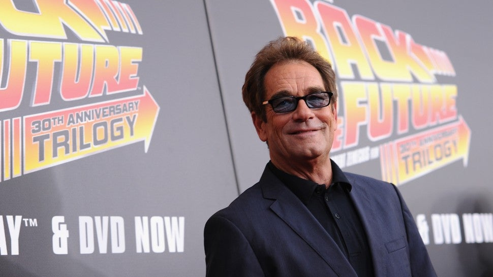 Musician Huey Lewis attends the Back to the Future reunion on October 21, 2015 at AMC Loews Lincoln Square 13 in New York City.