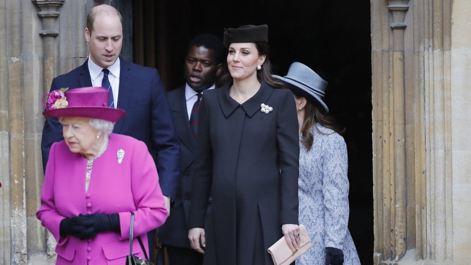 Queen Elizabeth II, royal family attend Easter service