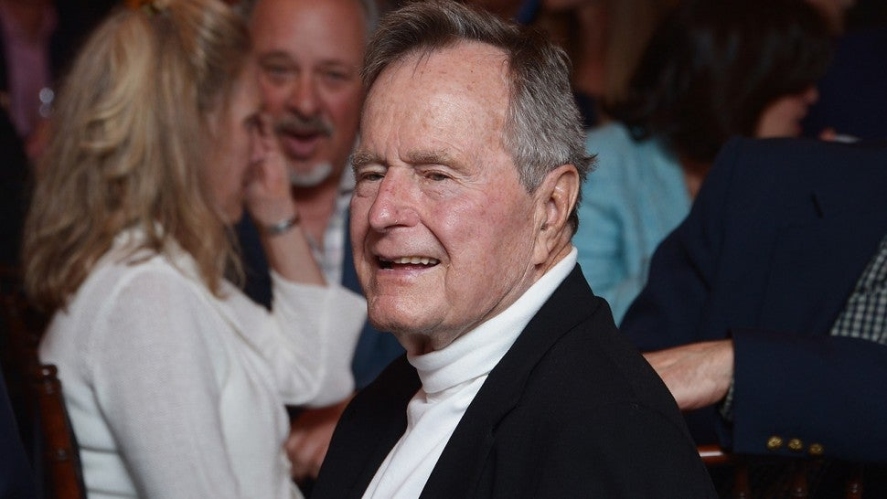 George H.W. Bush, back in ME, attends a pancake breakfast
