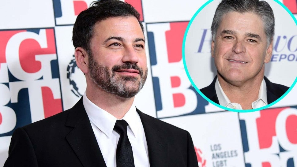 Jimmy Kimmel with Sean Hannity (Inset)
