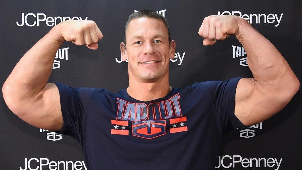 John cena hits the gym on his 41st birthday following - John cena gym image ...