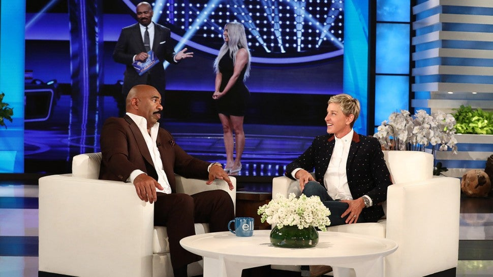 Steve Harvey Trash-Talks Kardashian 'Family Feud' Episode: 'Kim Didn't Know Nothing'