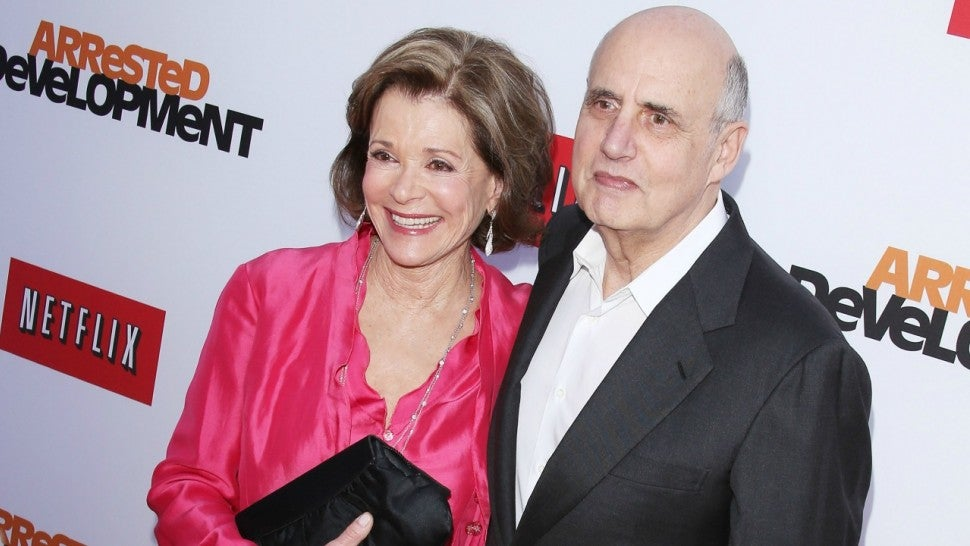 Jessica Walter and Jeffrey Tambor arrive at Netflix's Los Angeles premiere of 'Arrested Development' season 4 held at TCL Chinese Theatre on April 29, 2013 in Hollywood, California.