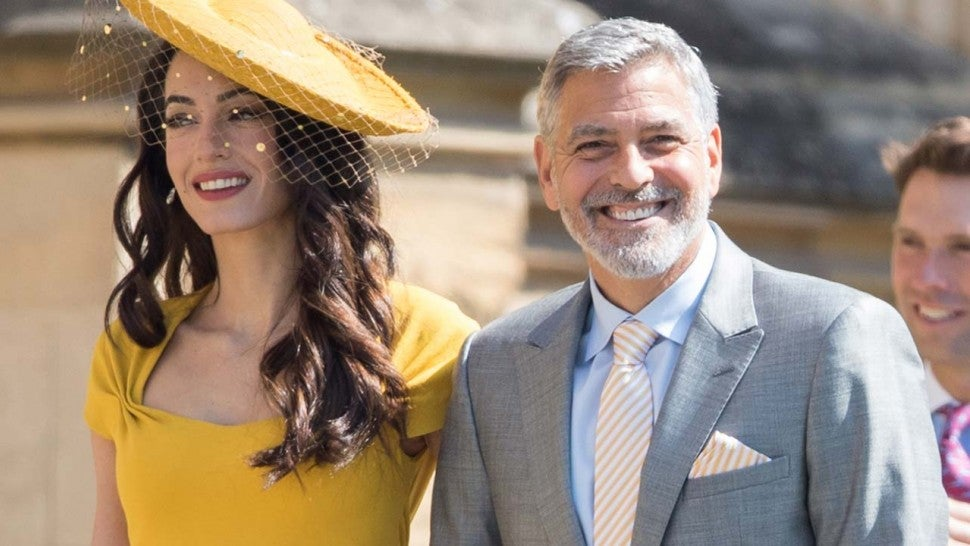 George and Amal Clooney at the Royal Wedding on May 19