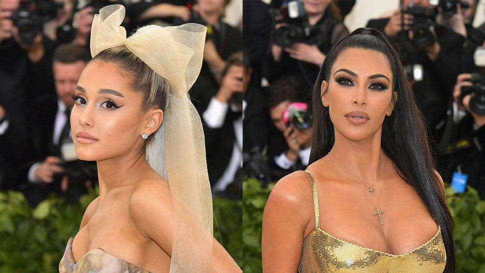 Ariana Grande and Kim Kardashian at 2018 Met Gala