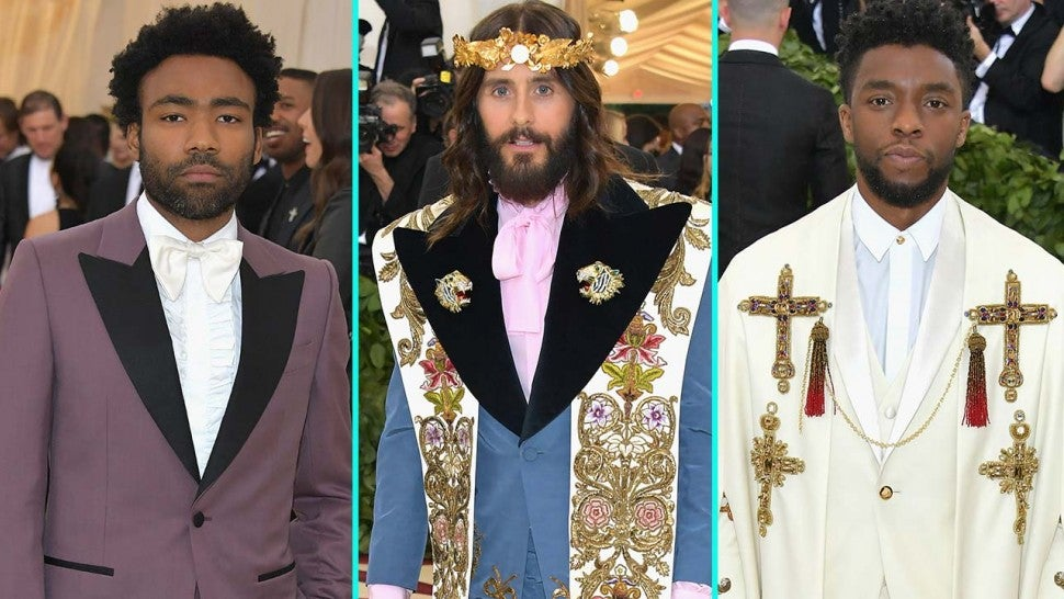 Donald Glover, Jared Leto and Chadwick Boseman at the 2018 Met Gala