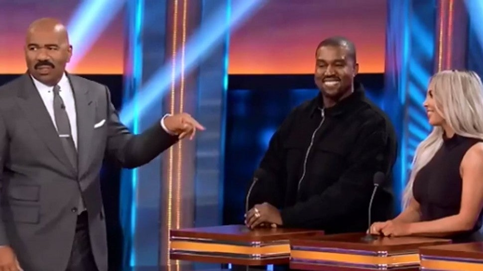 Kim Kardashian Kanye West Celebrity Family Feud
