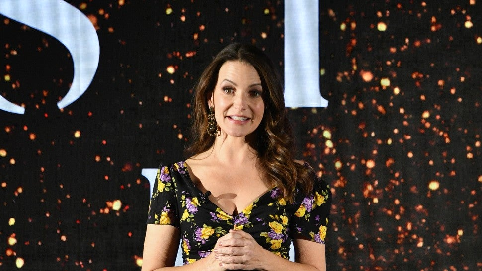 Actor Kristin Davis speaks at the 2018 A+E Upfront on March 15, 2018 in New York City.