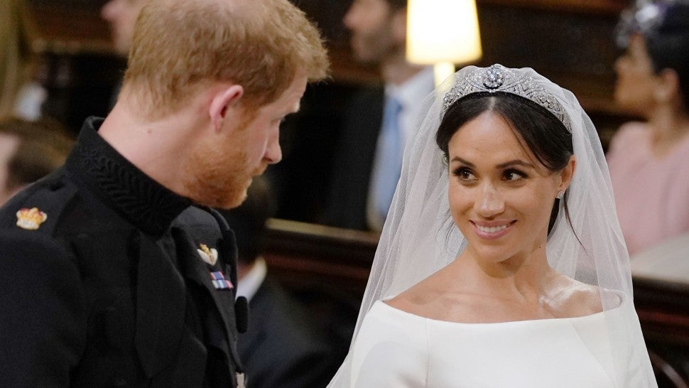 Prince Harry and Meghan Markle at wedding