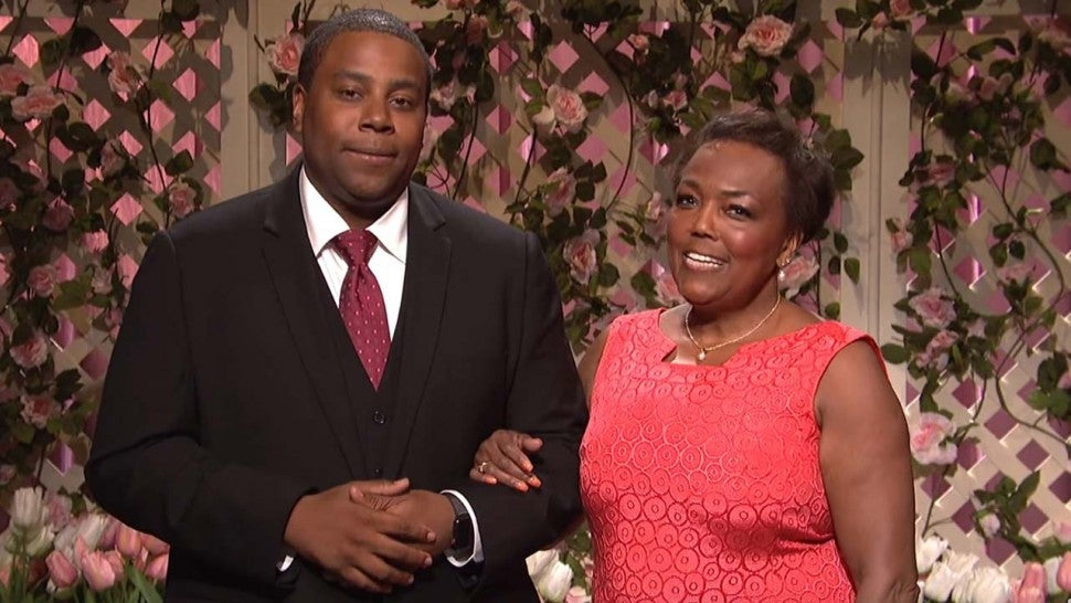 Kenan Thompson and his mother, Ann, on 'Saturday Night Live' cold open on May 12