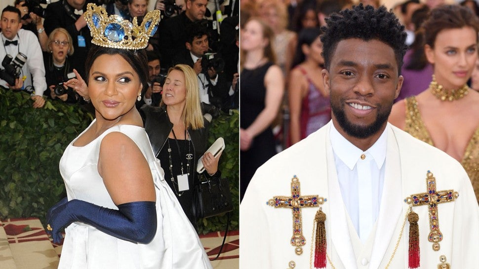 Mindy Kaling Thinks She And Chadwick Boseman Could Be The Next Royal Couple Entertainment Tonight