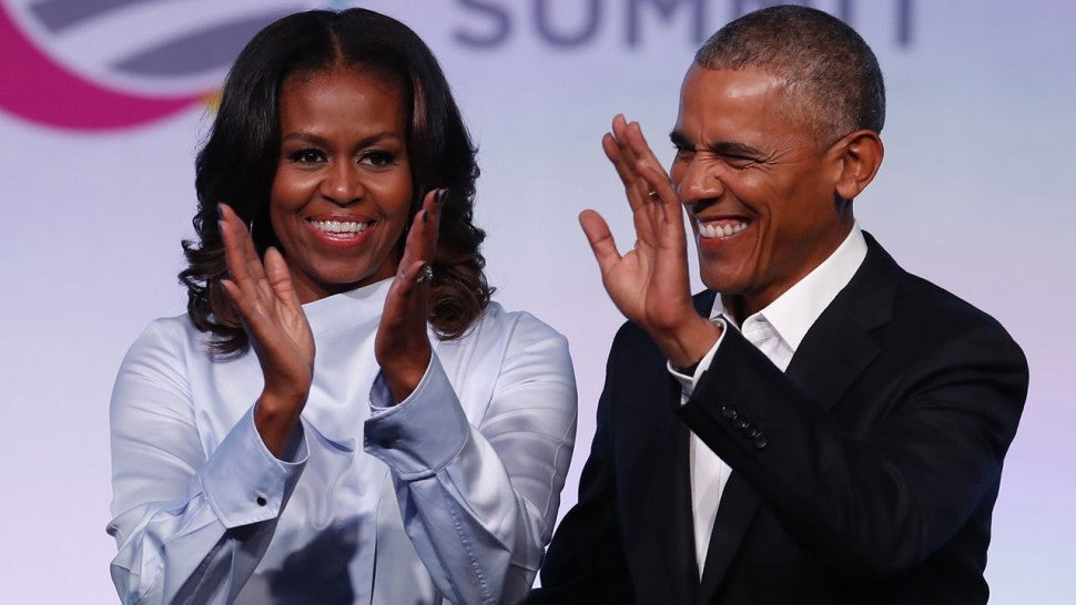 Barack and Michelle Obama dancing to Jay-Z and Beyonce delights fans