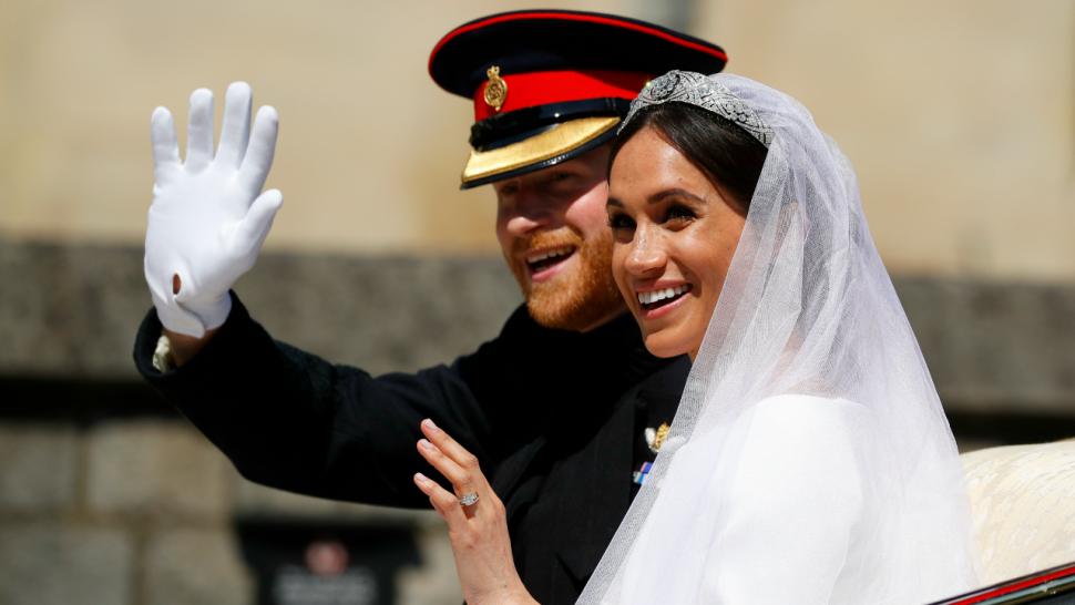 look through prince harry meghan markle s royal wedding photo album entertainment tonight royal wedding photo album
