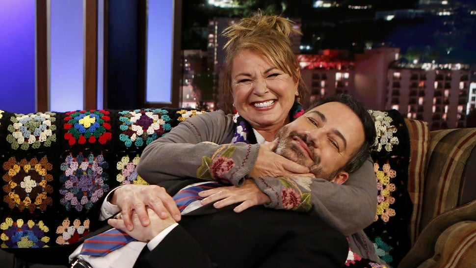 Roseanne Barr and Jimmy Kimmel