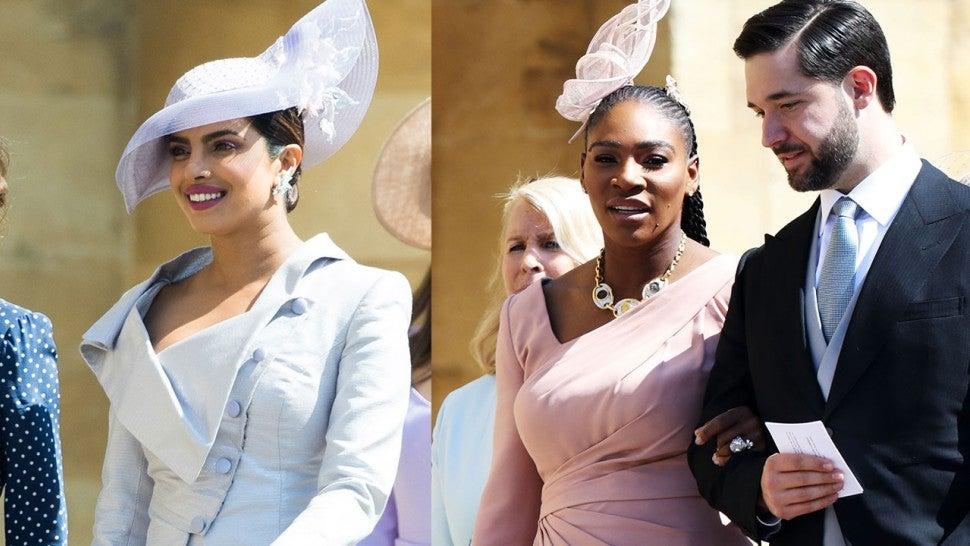 Serena Williams Royal Wedding.Serena Williams And Priyanka Chopra Show Off Their Amazing Royal