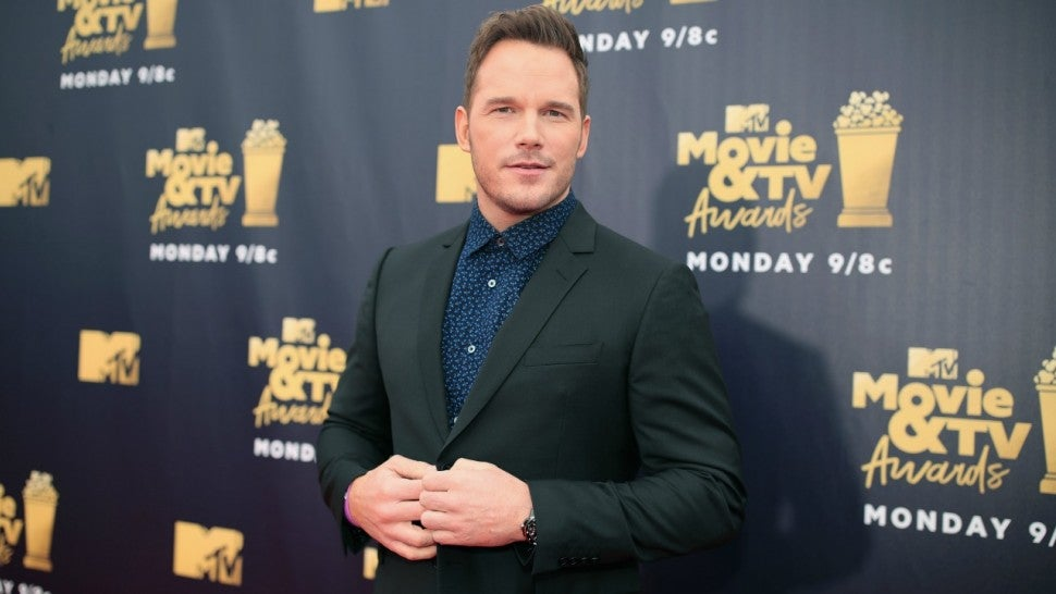 Chris Pratt attends the 2018 MTV Movie And TV Awards at Barker Hangar on June 16, 2018 in Santa Monica, California.