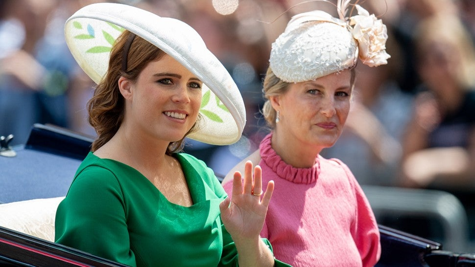 Princess Eugenie and Sophie Countess of Wessex during Trooping The Colour 2018