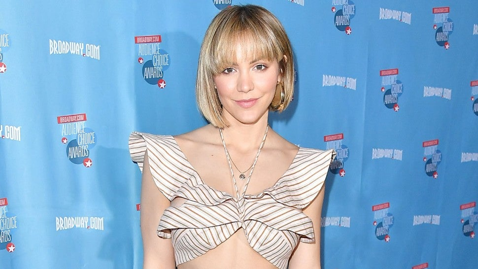 Katharine McPhee finally shows off huge engagement ring from David Foster
