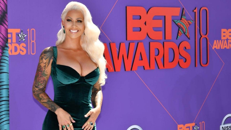 Amber Rose at the 2018 BET Awards in LA on June 24