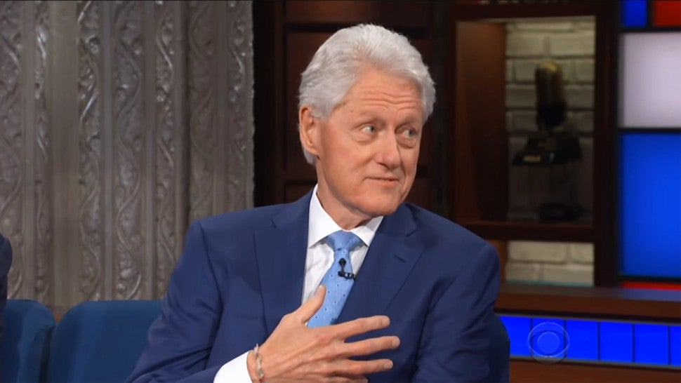 Stephen Colbert grills Bill Clinton on his 'tone-deaf' #MeToo interview
