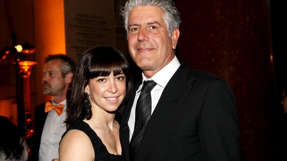 Ottavia Busia-Bourdain and Anthony Bourdain
