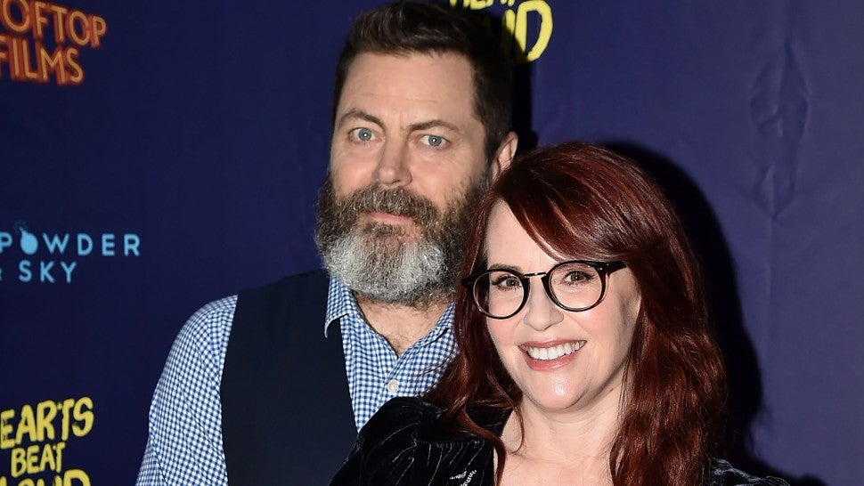 Nick Offerman and Megan Mullally at the 'Hearts Beat Loud' New York Premiere