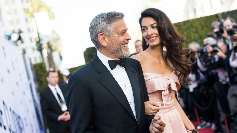 George and Amal Clooney at AFI event