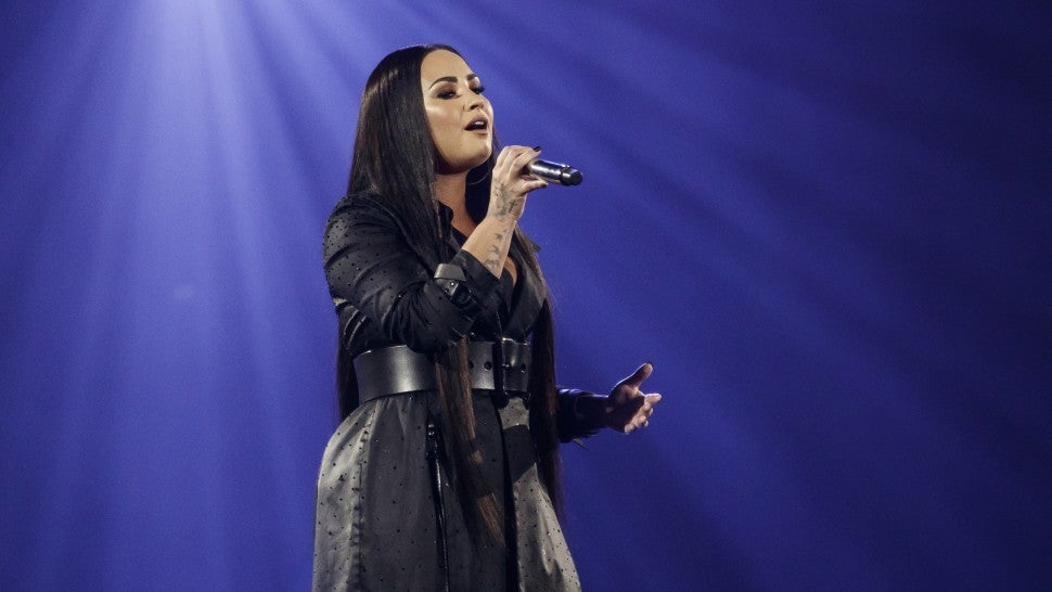 Demi Lovato Chokes Up During Live Perfomance of 'Sober'