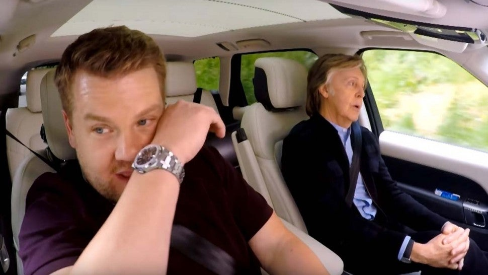 James Corden gets teary singing with Paul McCartney on Carpool Karaoke