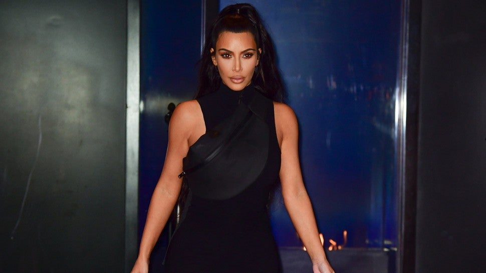 384d515662c Kim Kardashian Steps Out in Edgy Style for Kanye West and Nas' NYC ...