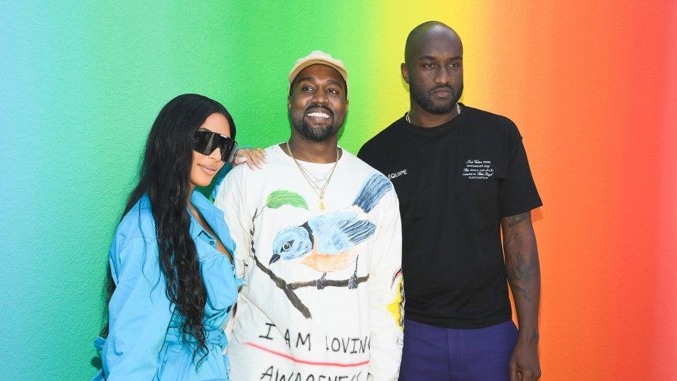 977045aed3ff Kanye West Breaks Down in Tears Supporting Longtime Friend Virgil ...