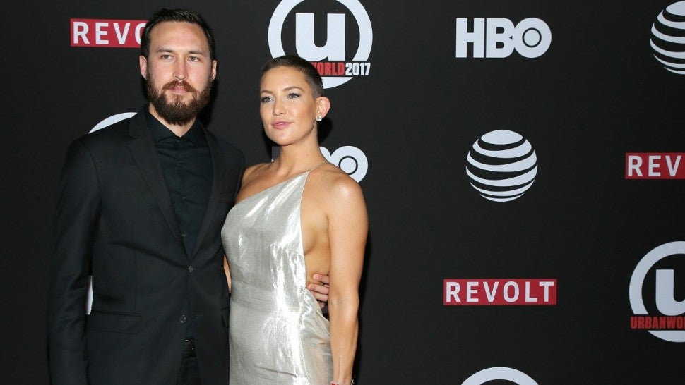 Kate Hudson and Danny Fujikawa attend the 21st Annual Urbanworld Film Festival at AMC Empire 25 theater on September 23, 2017 in New York City.