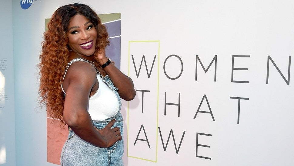 Serena Williams attends the Women's Tennis Association (WTA) Tennis on The Thames evening reception at OXO2 on June 28, 2018 in London, England.