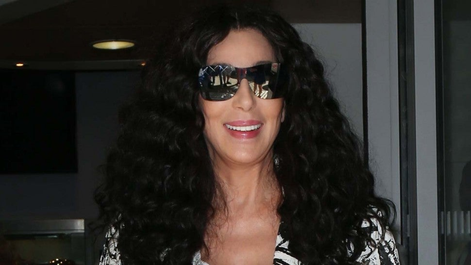 Cher smiles to fans outside BBC Radio 2 Studios in London, England, on July 17