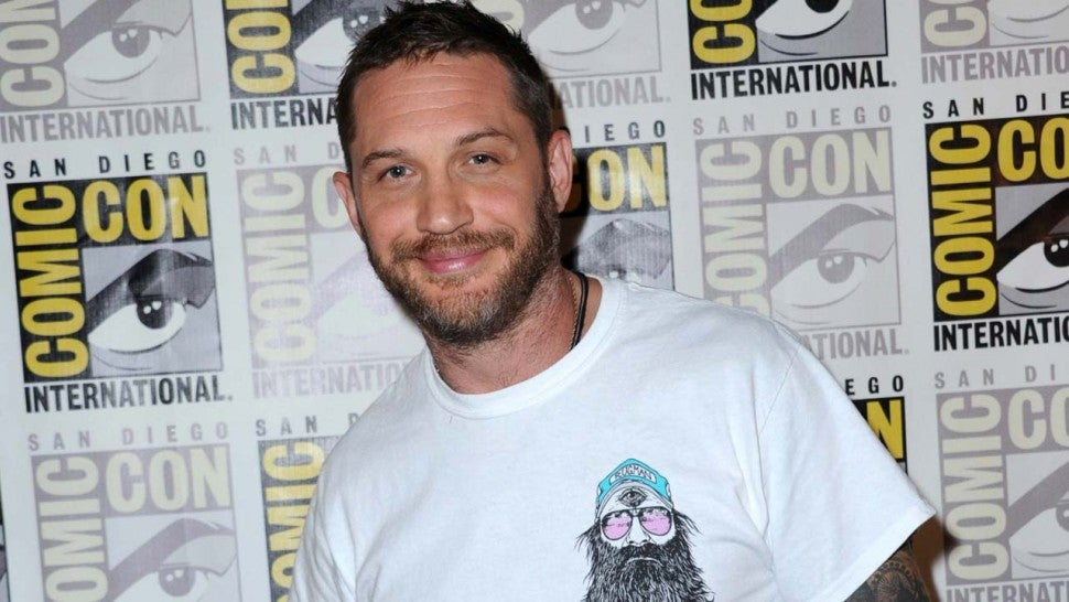 Tom Hardy at San Diego Comic-Con on July 20, 2018