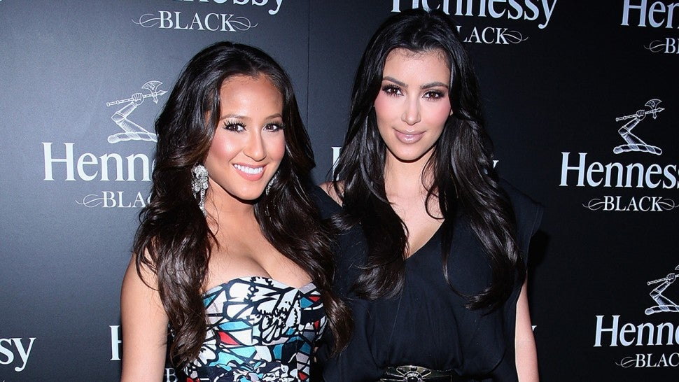 Adrienne Bailon and Kim Kardashian